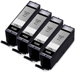 4 Pack Remanufactured  Canon PGI-270XL Ink Cartridge: 4 Pigment Black PGI270X