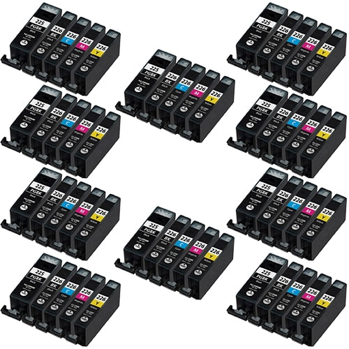 Canon PGI-225 ink,CLI-226 Remanufactured  Set of 50 Ink Cartridges