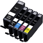 Compatible Canon PGI-250XL & CLI-251XL ink Set of 5 Cartridges: 1 Pigment Black PGI-250XL, 1 each of CLI-251XL Black / Cyan / Magenta / Yellow