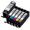 Canon PGI-270XL & CLI-271XL Remanufactured  Set of 6 Ink Cartridges: 1 Pigment Black PGI270XL, 1 each of CLI271XL B/C/M/Y/G