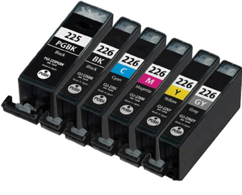 6-Pack Ink cartridges Set Compatible Canon PGI-225 CLI-226