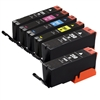Canon PGI250 & CLI251 Remanufactured  Set of 6 Ink Cartridges: 2 Pigment Black PGI250, 1 each of CLI251 B/C/M/Y