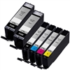 Canon PGI-270XL & CLI-271XL Remanufactured  Set of 6 Ink Cartridges: 2 Pigment Black PGI270XL, 1 each of CLI271XL B/C/M/Y