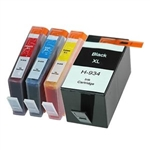 HP Ink 934/935 XL (HP934/935XL INK),High Yield Set Of 8 Colors,Remanufactured  Inkjets For Use With HP OfficeJet Pro 6280/6812/6815/6820/6830/6830c/6835