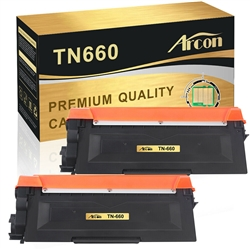 2 Brother TN-660 Toner cartridge,High Yield Remanufactured  Toner For DCP,HL & MFC Printers
