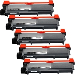 5 Brother TN-660 Toner cartridge,High Yield Remanufactured  Toner For DCP,HL & MFC Printers