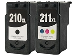 Canon PG210xl & CL211 Combo Pack Of 2 Ink Cartridges: 1 Black PG210xl, 1 Color CL211