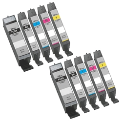 Canon PGI-2280XXL CLI-281XXL Ink Cartridges  Combo, 10 Pack Remanufactured Cartridges With Level Chip.