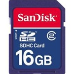SANDISK, SDHC, MEMORY, CARD 16GB, CLASS 2,