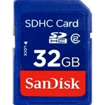SANDISK, SDHC, MEMORY, CARD 32GB, CLASS 2,