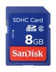 SANDISK, SDHC, MEMORY, CARD 8GB, CLASS 2,