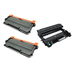 2 Brother TN-450 Toner Cartridge + Drum