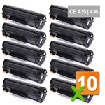 10x HP 35A (CB435A) Black LaserJet Toner Cartridge