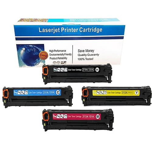 5Pack, BBCMY Color 4 Print Compatible Toner Cartridge Replacement for HP 131X CF210X Black Toner for HP 131A CF211A CF212A CF213A Color Toner use for HP Laserjet Pro 200 Color M251 M276n M276nw