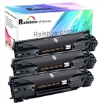 3 Pack HP 78A Toner (CE278A) Black LaserJet Toner Cartridge.