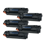 5x HP 35A Toner cartridge,(CB435A) Black LaserJet Toner Cartridge