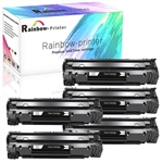 5 HP 36A (CB436A) Black LaserJet Toner Cartridge