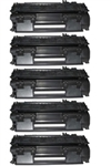 5 Pack HP 05X (CE505X) High Yield Black LaserJet Toner