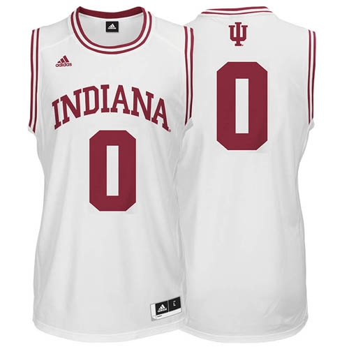 6a210f2a6da ADIDAS White Youth Basketball Replica #0 Indiana Jersey