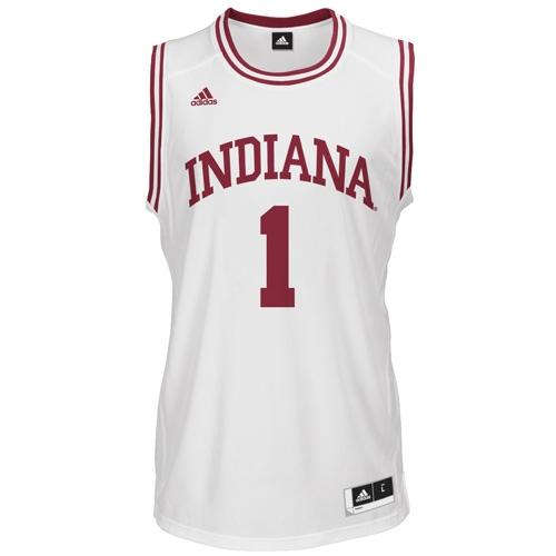 super popular 9c783 ca20c ADIDAS White Men's Basketball Replica #1 Indiana Jersey