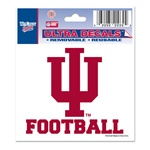 "Indiana ""IU Football"" Ultra Decal from Wincraft"