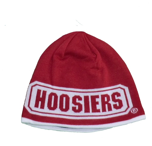 ADIDAS IU Hoosiers Reversible Crimson and Black Knit Beanie f1b8efdfcac