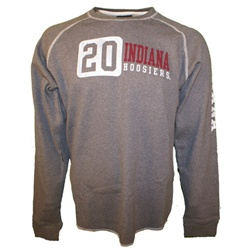 LONGSLEEVE Charcoal Grey Distressed Indiana Hoosiers Thermal Shirt