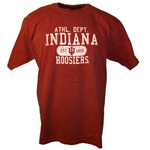 Garment Washed Crimson INDIANA Athletic Dept Distressed T-Shirt