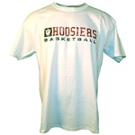 Distressed White HOOSIERS BASKETBALL T-Shirt