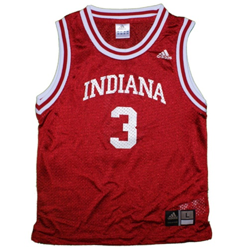 cheap for discount 7a0f1 af1ed ADIDAS Youth Crimson Replica #3 Indiana Basketball Jersey