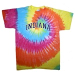 Youth Rainbow Pastel Spiral INDIANA Tie Dye T-Shirt