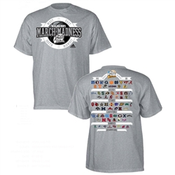 ADIDAS Athletic Grey NCAA March Madness 2013 Selection Bracket T-Shirt