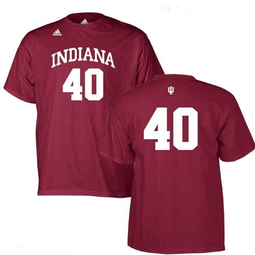 2178dbc5223 ADIDAS Crimson Indiana #40 Basketball Jersey T-Shirt