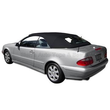 Replacement 1999-2003 Mercedes CLK Convertible Top: Black