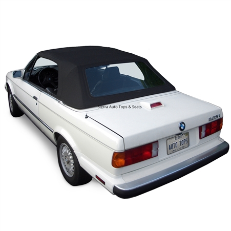 BMW Convertible Top 1987-1993 3 Series (E30) German Classic Canvas Black