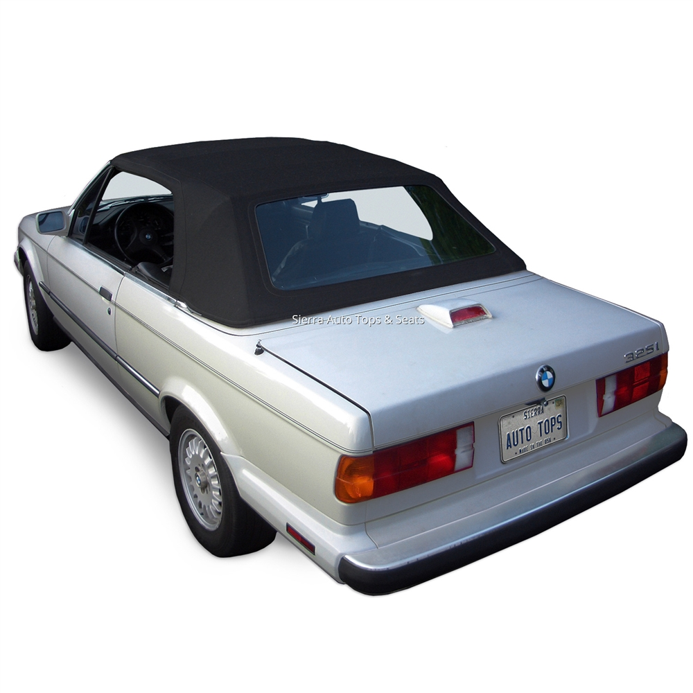 BMW 3 Series E30 Convertible Top: Black TwillFast Canvas