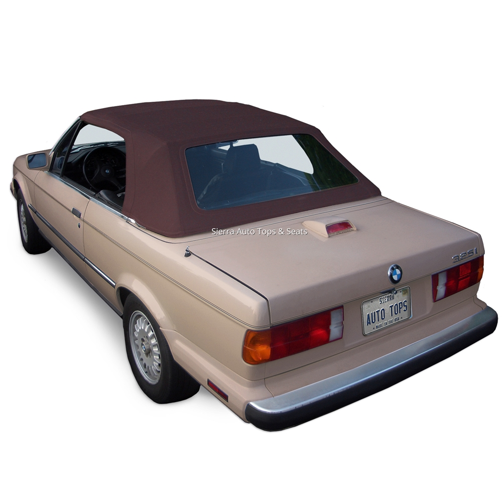 BMW 3-Series 1987-1993 Brown Convertible Soft Top