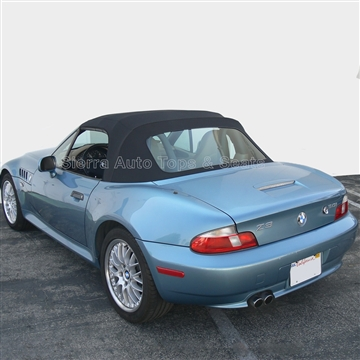 BMW Z3 Black Cabrio Vinyl Convertible Top & Plastic Window - Black