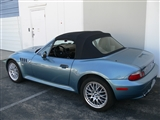 BMW Z3 Black Sun-Fast Canvas Convertible Top & Plastic Window - Black