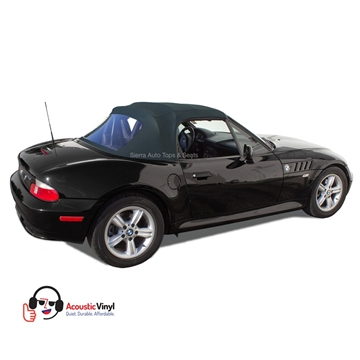 BMW Z3 Convertible Top in Blue Vinyl with plastic window