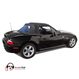 BMW Z3 Convertible Top in Black Vinyl with plastic window