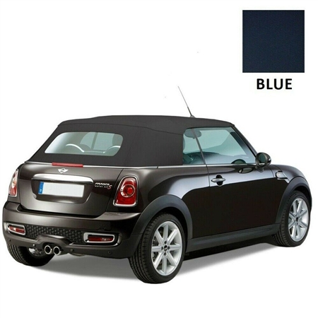 Mini Cooper Convertible Top 2009-2015 TwillFast RPC Canvas, Blue