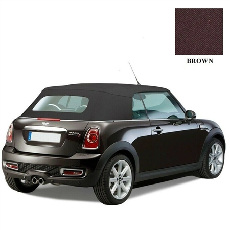 Mini Cooper Convertible Top 2009-2015 TwillFast RPC Canvas, Brown