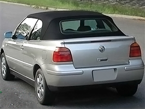 1995-2000 VW Cabrio Golf Convertible Top, Black Twillfast II Cloth