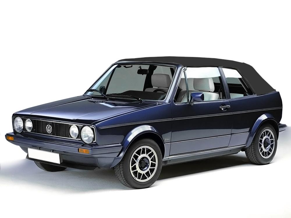 Vw Cabrio Golf Black Convertible Soft Top