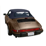 Porsche 911 Convertible Soft Top Replacement - Blue Stayfast Canvas