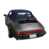 Porsche 911 1983-94 Convertible Top Replacement & Plastic Window, Blue