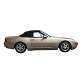 Porsche 944 & 968 Convertible Soft Tops | Black Twillfast II