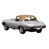 1971-1974 Jaguar XKE V12 Replacement Convertible Top in Buckskin