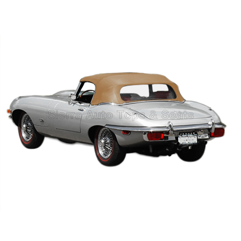 Price Of Jaguar Convertible: 1971-1974 Jaguar XKE V12 Convertible Top In Buckskin